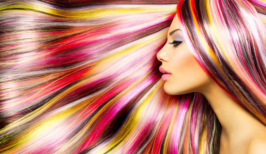 amazing rainbow coloured hair style
